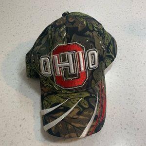 Ohio State University camouflage baseball cap